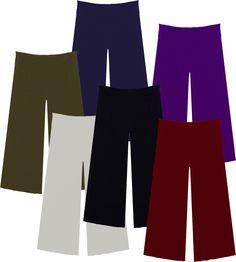 e85f684fef0 Plus Size Slinky Wide Leg Palazzo Pants in Powder Blue 0x (18 20)