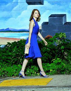Emma Stone (in Kurt Geiger London shoes) - On set of  'La La Land' in Hollywood.  (23 October 2015)