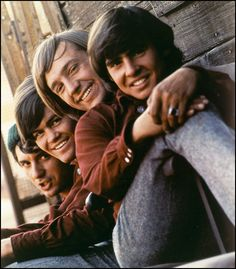 The Monkees: Davy Jones, Peter Tork, Mickey Dolenz, and Mike Nesmith. I loved the Monkees TV show when I was wee and when I was three I would answer only to the name Davey no matter where we were. I was a blondes curly haired girl in the Lps, Rock And Roll, Pop Rock, Beatles, The Ventures, Pochette Album, Photo Vintage, Vintage Tv, 1970s