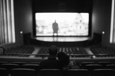 Engagement session inside the Turstees Theater | Savannah Soiree