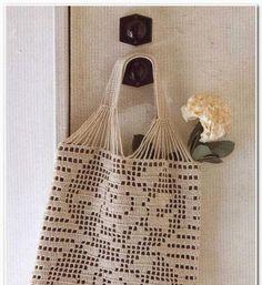 Tina's handicraft : summer crochet bag with roses