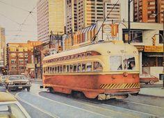 Vintage street car in Toronto, Ontario