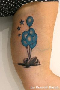 Balloon Tattoo, Tatouage hôtesse de l'air, Air stewardess Tattoo