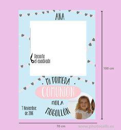 Marco polaroid comuniones.  Impreso en cartón 100x70cm #comuniones #photocall #photobooth #marcocomunion #props info@photocalls.es