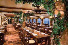 Lacucina Italian Restaurant on Norwegian Gem cruise ship.
