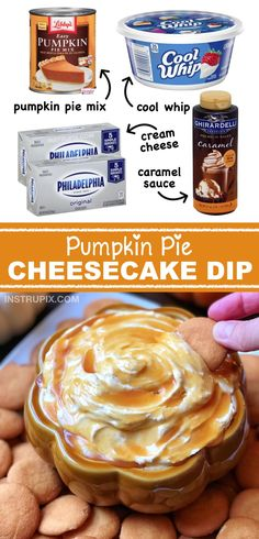 Low Unwanted Fat Cooking For Weightloss Love This Recipe Easy Pumpkin Pie Cheesecake Dip This Quick Recipe Is Made With Just 4 Ingredients. No Baking Or Planning Required It's Soo Good. Ideal For Fall Parties Or Thanksgiving Dessert. Bon Dessert, Dessert Dips, Fall Dessert Recipes, Fall Recipes, Holiday Recipes, Easy Fall Desserts, Dinner Recipes, Fall Snacks, Beef Recipes