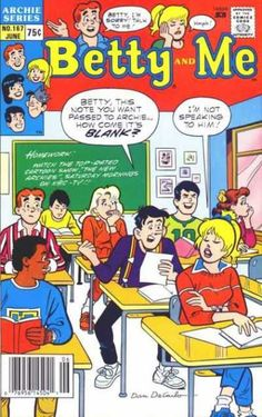 A cover gallery for the comic book Betty and Me Archie Comics Characters, Archie Comic Books, Ghibli, Archie Comics Riverdale, Dan Decarlo, Archie And Betty, Betty And Veronica, Classic Comics, American Comics