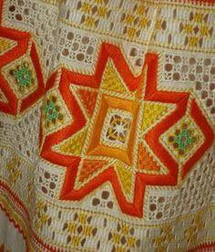 The pieces feature a variety of decorations including embroidery, weaving, and trim. Folk Costume, Costumes, Bobbin Lace, Traditional Dresses, Pleated Skirt, Embellishments, Apron, Weaving, European Countries