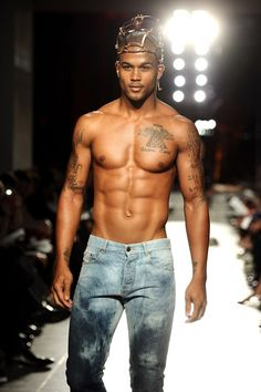 Sometimes its just nice to have your man walk around the house in nothing but some jeans.