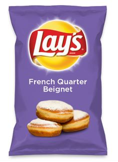 Wouldn't French Quarter Beignet be yummy as a chip? Lay's Do Us A Flavor is back, and the search is on for the yummiest flavor idea. Create a flavor, choose a chip and you could win $1 million! https://www.dousaflavor.com See Rules.