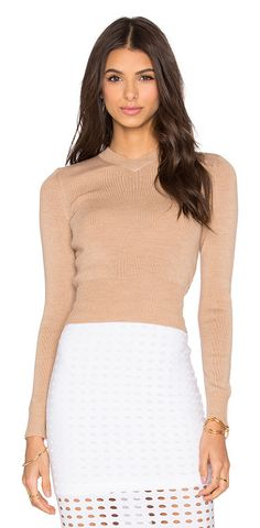 T BY ALEXANDER WANG Superfine merina high v neck sweater found on Nudevotion