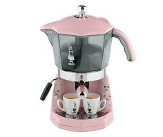 Bialetti Pink Mokona Coffee Machine (not wild about the color, but like the concept!)