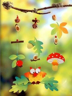Top 40 Examples for Handmade Paper Events - Everything About Kindergarten Autumn Crafts, Fall Crafts For Kids, Autumn Art, Diy For Kids, Foam Crafts, Preschool Crafts, Diy And Crafts, Paper Crafts, Autumn Decorating