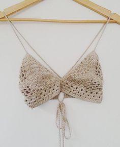 Australian label creating beautiful things with yarn. Diy Crochet Bikini Top, Shorts Crochet, Crochet Bra, Crochet Crop Top, Crochet Clothes, Crochet Designs, Crochet Patterns, Textiles, Couture