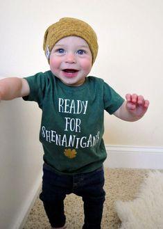 St. Patrick's Day Shirt - Kids Shenanigans Shirt - Kids St. Patrick's Day Shirt - Lucky Shirt - Shamrock Shirt - St. Patty's Day Shirt #irish #stpatricksday #stpaddysday #stpatricks #shirt #holiday #diyshirt #baby #toddler #affiliate