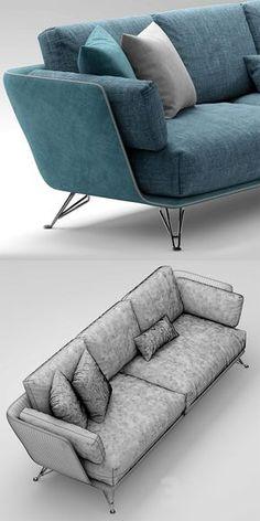3d models: Sofa - Sofa Arketipo morrison sofa