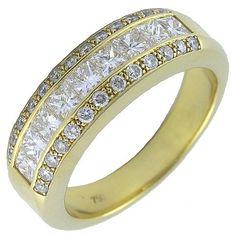 Anillo de oro con diamantes. Diamond Iberica