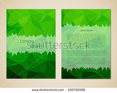 Template title page. Making invitations, leaflets, banners. Blank cover. Office Style. Vector illustration