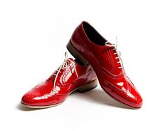 red patent oxford shoes  FREE WORLDWIDE SHIPPING by goodbyefolk, $210.00
