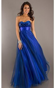 Long Strapless Sweetheart Ball Gown SN-90053