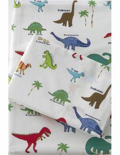 sheets for big boy room  Dino Roar Sheet Set