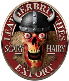 Cerveja Leatherbritches Scary Hairy Export, estilo India Pale Ale (IPA), produzida por Leatherbritches, Inglaterra. 7.2% ABV de álcool.