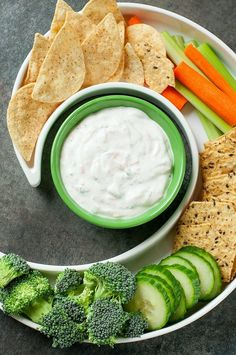 Skip the store bought tub; you'll want to dunkeverything in sight into this tasty homemade garden veggie dip! Mayo-free and SO delicious!