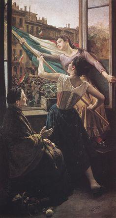 Carlo Stragliati Milano 1868-1925, Episodio delle Cinque Giornate, Milano, Museo del Risorgimento  CARLO STRAGLIATI (Milano 1868 - 1925)   #TuscanyAgriturismoGiratola