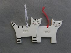 Personalized CatCustom Cat Ceramic Ornament by TatjanaCeramics, $7.50
