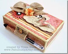 burlap box