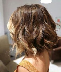 Tousled Highlighted Short Curly Bob Hairstyles
