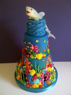 Shark Reef by #CakeyCake https://www.facebook.com/childscakeycake