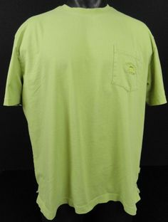 Tommy Bahama Relax Mens XL Green Pocket T-Shirt 100% Pima Cotton SS Sailfish  #TommyBahama #BasicPocketTee