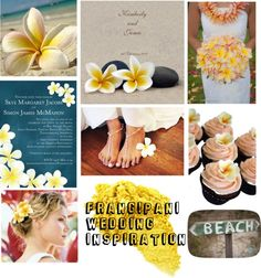 """Frangipani Wedding Inspiration"" by dreamdayinvitations on Polyvore"