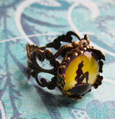 The Little Mermaid jewelry Ariel silhouette ring by JaybeePepper, $20.00