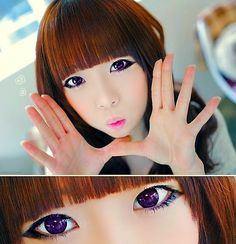 Care should be taken when applying makeup with circle lenses as makeup contain irritants that might cause eye infections when your contact lenses are contaminated with the build up. Follow the site for more information or purchase your branded Korean FDA approved circle lenses here : http://www.uniqso.com