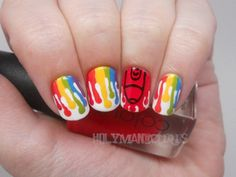 Holy Manicures: Crayon Drip Nails.