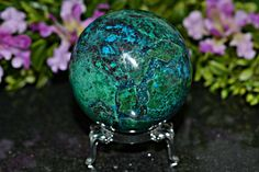 Amazing Chrysocolla Sphere 53 MM Natural by Fkjewelstudio on Etsy