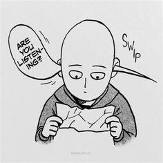 gambar saitama, one punch man, and manga One Punch Man Memes, One Punch Man Funny, One Punch Man Manga, Opm Manga, Manga Anime, One Punch Man Wallpapers, Page One, Saitama One Punch Man, Man Icon