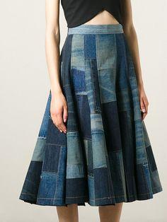 Юбка из джинсов, от Junya Watanabe, №2 / Переделка джинсов / ВТОРАЯ УЛИЦА