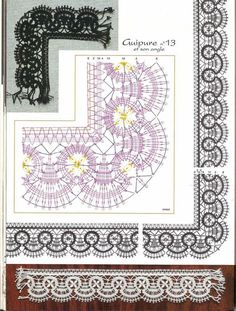 renda de bilros / bobbin lace esquemas / patterns: