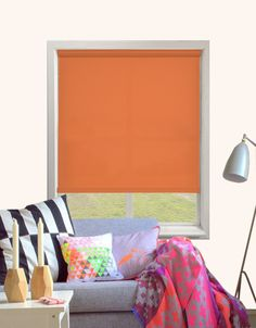 Bermuda Plain Roller Blind in Orange - Quality Made to Measure Roller Blinds