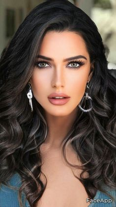Beautiful Women Pictures, Beautiful Girl Image, Stunning Women, Beauty Full Girl, Beauty Women, Brunette Beauty, Hair Beauty, Beauty Art, Belle Silhouette