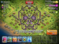 Clash of Clans | Evil Skull Shaped Base Design | #clashofclans