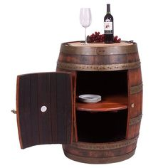 Love this wine barrel idea for a table :) wish it worked in my house!    Healdsburg Storage Table from the Wine Cellar event at Joss and Main!