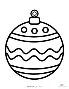 christmas tree ornaments coloring pages for kids | 212 Best Christmas Coloring Pages images in 2019 ...