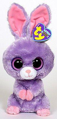 251f4d3dd786 Ty Easter Beanie Boos Petunia 6 inch 36059 Purple Bunny Ty Beanie Boos