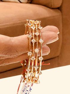 Diamond Bangles by Parshwa Gold Bangalore Emerald Jewelry, Crystal Jewelry, Gold Jewelry, Jewellery, Pendant Jewelry, Jewelry Art, Diamond Jewelry, Gold Bangles Design, Jewelry Design
