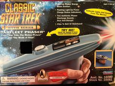 Vintage 1996 Star Trek Movie Series Starfleet Phaser Collector's Series #45878 #Playmates Star Trek Action Figures, Star Trek Movies, Love Stars, Vintage, Vintage Comics