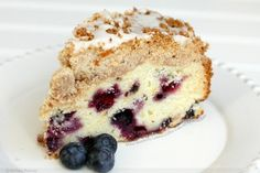 Moist blueberry lemon coffee cake w/lemon glaze